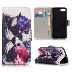 iPhone 7 Plus - Flip hoes, cover, case - PU leder - TPU - Uil