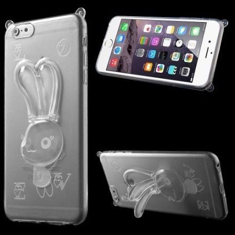 iPhone 6 Plus (5.5 inch) TPU Bunny Cover, hoesje, case transparant