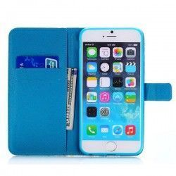 iPhone 6 Plus (5.5 inch) Beer Flip Cover, hoesje, case + Card clots