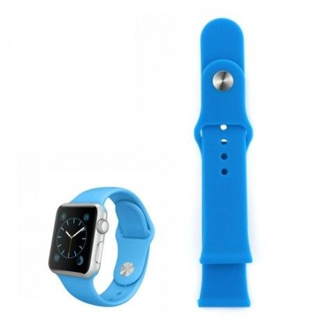 Apple Watch 38mm Siliconen Horlogeband Blauw (Zonder connector)