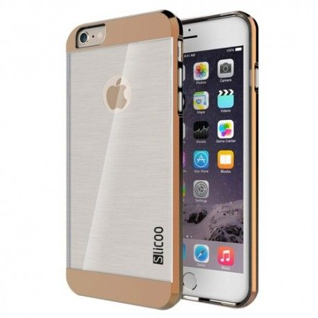 iPhone 6 (4.7 inch) Silcoo Hard Cover, hoesje, case Transparant / Bruin