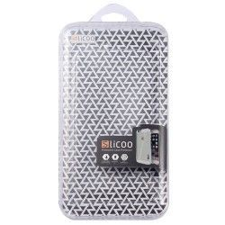 iPhone 6 (4.7 inch) Silcoo Hard Cover, hoesje, case Transparant / Zwart