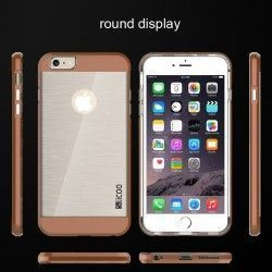 iPhone 6 Plus (5.5 inch) Silcoo Hard Cover, hoesje, case Transparant / Bruin