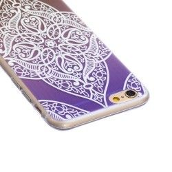 iPhone 6 Plus (5.5 inch) TPU Cover, hoesje, case Translucent flower