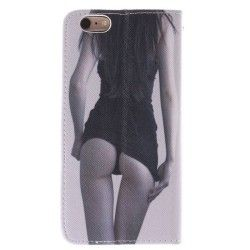 iPhone 6 Plus (5.5 inch) Flip Cover, hoesje, case Sexy Lady