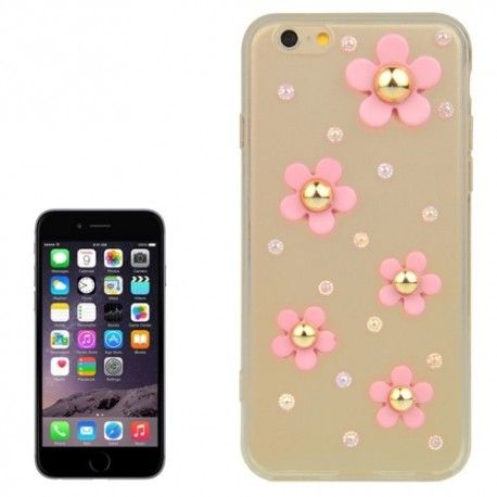 iPhone 6 (4.7 inch) TPU Cover, hoesje, case 3D flowers
