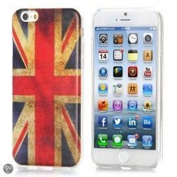 iPhone 6 (4.7 inch) TPU Cover, hoesje, case UK Vlag