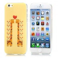 iPhone 6 (4.7 inch) TPU Cover, hoesje, case Giraffe