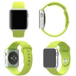 Apple Watch 38mm Siliconen Horlogeband Groen (incl Connectors)