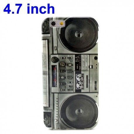 iPhone 6 (4.7 inch) Retro Radio TPU Cover, hoesje, case