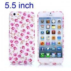 iPhone 6 Plus (5.5 inch) Bloemen TPU Cover, hoesje, case