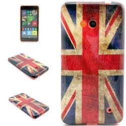 Microsoft Lumia 640 TPU cover, case, hoes UK Vlag