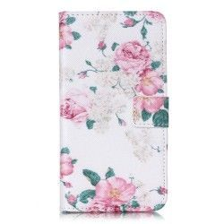 Microsoft Lumia 640 Flip cover, case, hoes Flower