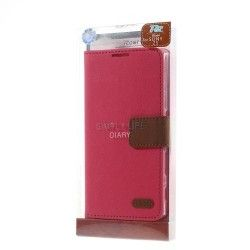 Sony Xperia Z5 ROAR Pu Leather Flip case, cover, hoes Roze