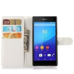 Sony Xperia Z5 Pu Leather Flip case, cover, hoes Wit