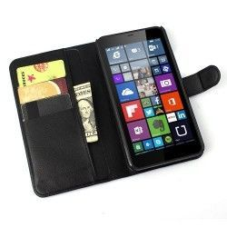 Microsoft Lumia 640 XL Flip cover, case, hoes Zwart