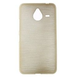 Microsoft Lumia 640 XL TPU cover, case, hoes Brushed Champagne