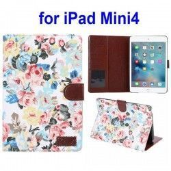 iPad mini 4 case, cover, hoes Bloemen Cloth