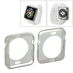 Apple Watch 38mm transparant TPU hoesje, case, frontje Grijs