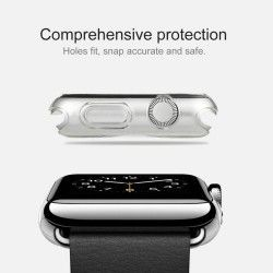 Apple Watch 38mm transparant TPU hoesje, case, frontje Paars