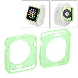 Apple Watch 38mm transparant TPU hoesje, case, frontje Groen