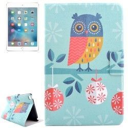 iPad mini 4 hoesje, case, cover met uilen + Boom print
