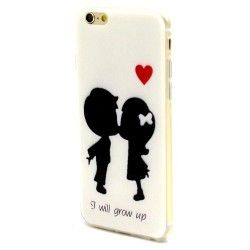 iPhone 6(S) (4.7 inch) TPU Cover, hoesje, case Kids in Love