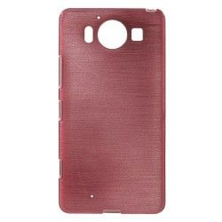 Microsoft Lumia 950 TPU Case cover hoesje Brushed Roze