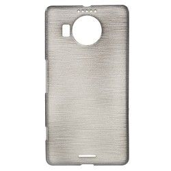 Microsoft Lumia 950 XL TPU Case cover hoesje Brushed Zwart