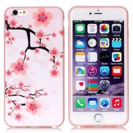 iPhone 6(S) Plus (5.5inch) TPU Cover, hoesje, case Cherry Blossom