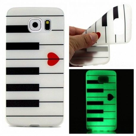 Samsung Galaxy S7 Edge - hoes, cover, case - TPU - Piano