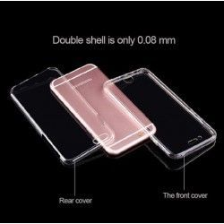 iPhone 6(s) (4.7 inch) - hoes, cover, case - TPU - Transparant - Front + Backcase