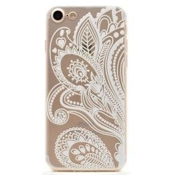 iPhone 7 (4.7 Inch) - hoes, cover, case - TPU - Transparant - Elegante bloemen