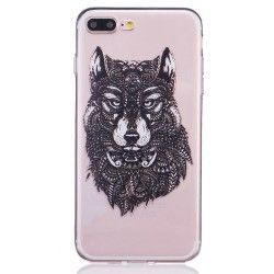 iPhone 8 Plus / 7 Plus (5.5 inch) - hoes, cover, case - TPU - Transparant - Wolf