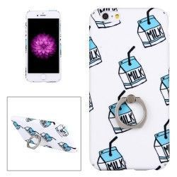 iPhone 6(s) Plus (5.5 Inch) - hoes, cover, case - TPU - Ringstandaard - Melk