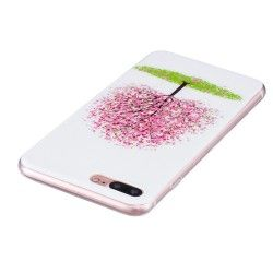 iPhone 7 Plus (5.5 Inch) - hoes, cover, case - TPU - Transparant - Cherry blossom Tree