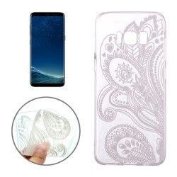 Samsung Galaxy S8 - hoes, cover, case - TPU - Elegante bloem