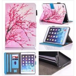 iPad mini 4 - hoes, cover, case - PU leder - TPU - Bloesem - roze
