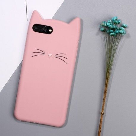 iPhone 7 Plus (5.5 Inch) - hoes, cover, case - Siliconen - cat