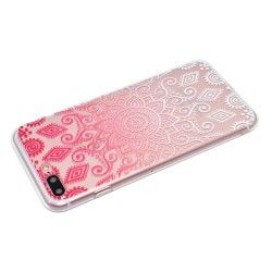 iPhone 7 Plus (5.5 Inch) - hoes, cover, case - TPU - Transparant - Mandala bloem - Roze