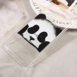 Huawei P10 - hoes, cover, case - TPU - Transparant - Panda