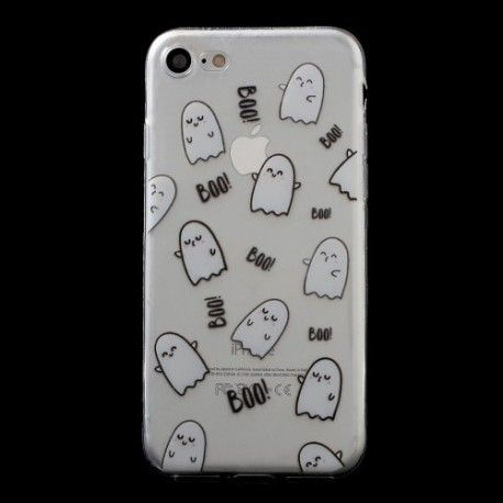 iPhone 7 (4.7 Inch) - hoes, cover, case - TPU - Transparant - Spookjes