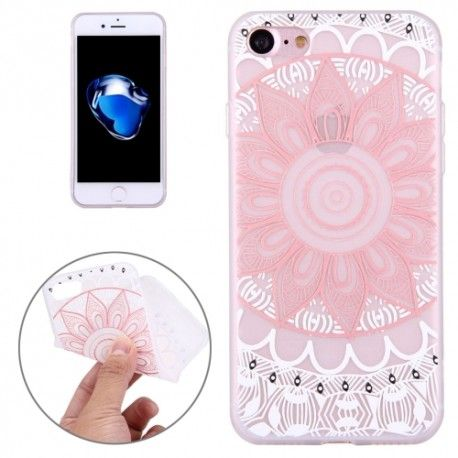 iPhone 7 (4.7 Inch) - hoes, cover, case - TPU - Lotus - Roze