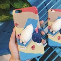 iPhone 6(s) Plus (5.5 Inch) - hoes, cover, case - PC - 3D Squishy Ijsbeer
