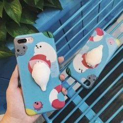 iPhone 7 Plus (5.5 Inch) - hoes, cover, case - PC - 3D Squishy Zeehond