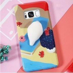 Samsung Galaxy S8 Plus - hoes, cover, case - TPU - 3D Squishy Zeehond