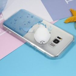 Samsung Galaxy S8 Plus - hoes, cover, case - TPU - 3D Squishy Zeehond in zee