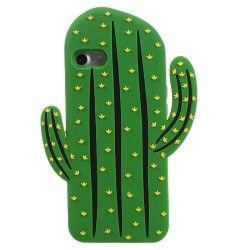 iPhone 7 (4.7 inch) - hoes, cover, case - Siliconen - Cactus - Groen