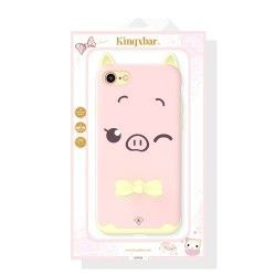 iPhone 7 (4.7 Inch) - hoes, cover, case - PC - Siliconen - Roze Big