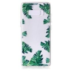 Samsung Galaxy Note 8 - hoes, cover, case - TPU - Transparant - Bananenblad